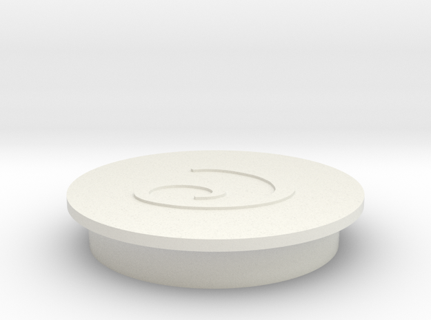 Faucet Handle Cap (Cold) in White Natural Versatile Plastic