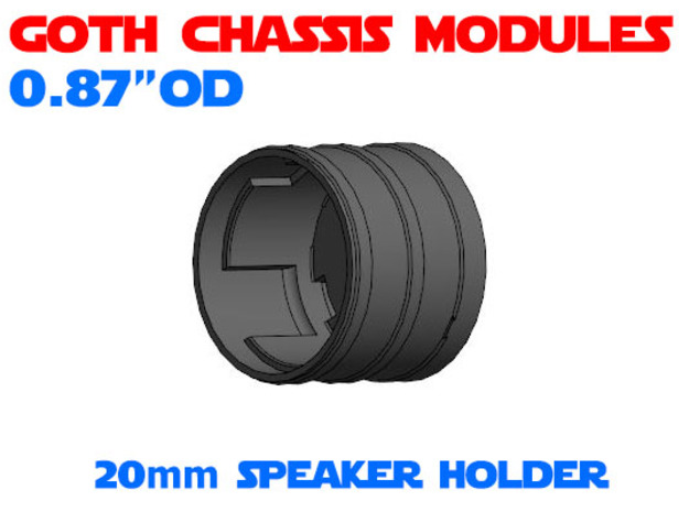GCM087 - 20mm Speaker chassis in White Natural Versatile Plastic