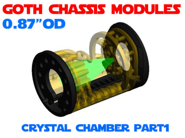 GCM087 - Crystal Chamber Part 1 - Shell in White Natural Versatile Plastic