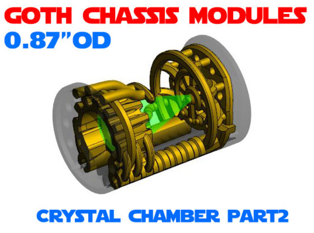 GCM087 - Crystal Chamber Part 2 - Insert in White Natural Versatile Plastic
