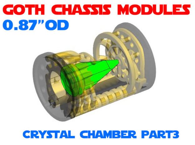 GCM087 - Crystal Chamber Part 3 - Crystal in Smooth Fine Detail Plastic