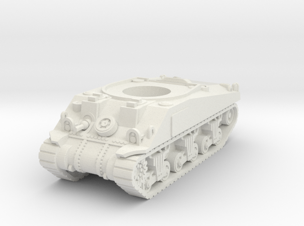 Sherman M4 Hull 15mm / 1/100 in White Natural Versatile Plastic