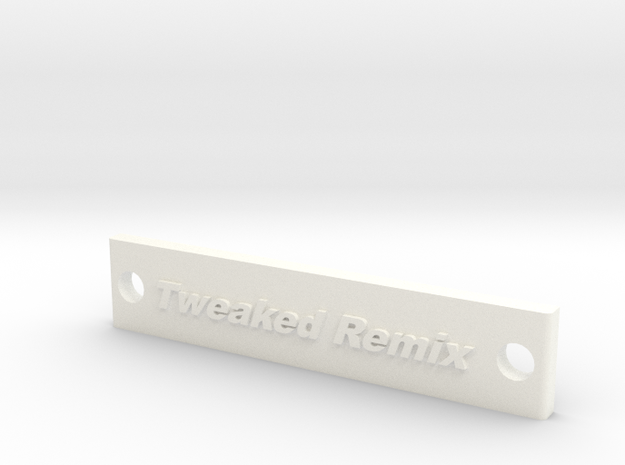 Tweaked Remix Battery Strap in White Strong & Flexible Polished