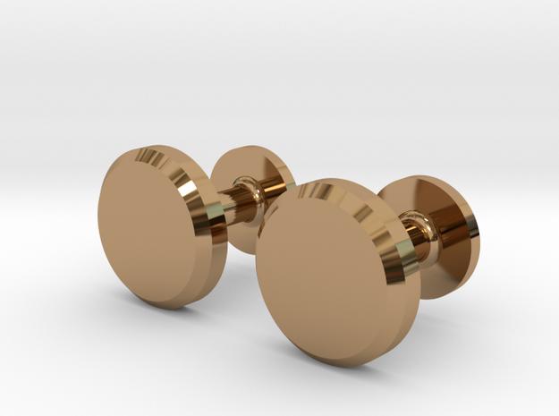 Milnerfield Hawking Cufflinks - Pair in Polished Brass