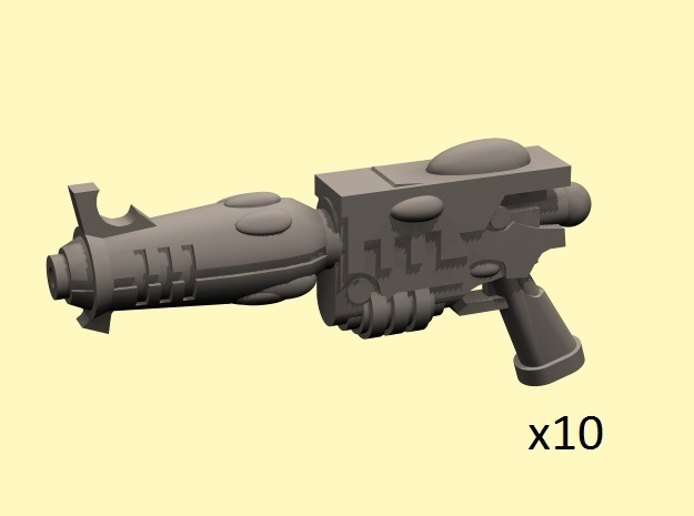 28mm Space Elf blaster pistols