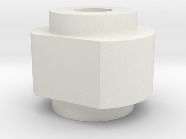 Spinner Cap SD Shaft in White Natural Versatile Plastic