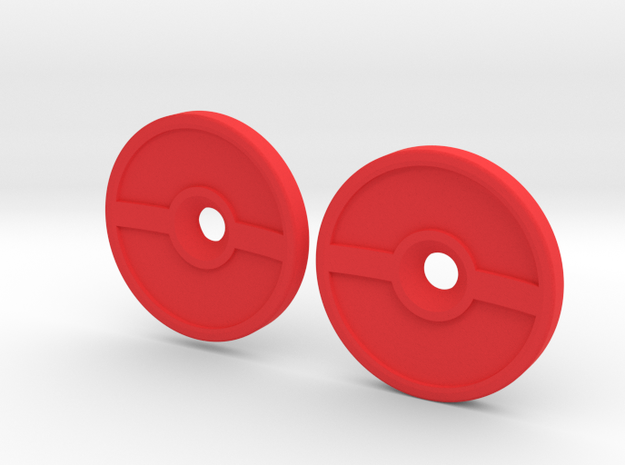 Spinner Caps (SD-PB) in Red Processed Versatile Plastic