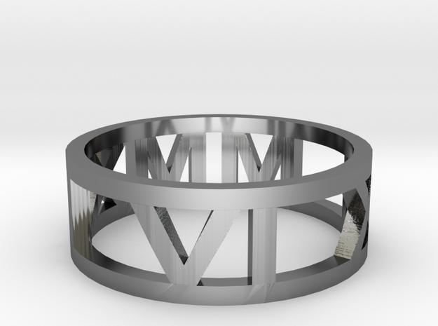 memorable date ring in Premium Silver