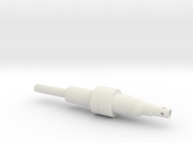 ESB FT Upper Tube in White Natural Versatile Plastic