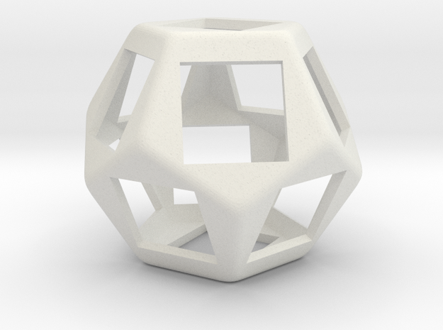 Fidget Dodecahedron for Cherry MX switches rev.2 in White Strong & Flexible