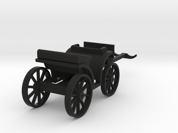 Carriage Two Seater in Black Natural Versatile Plastic: 1:64 - S