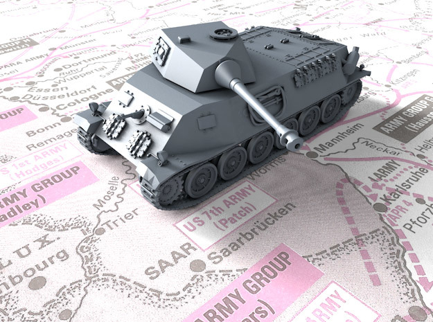 1/87 (HO) Czech Škoda T 24 Medium Tank in Smooth Fine Detail Plastic