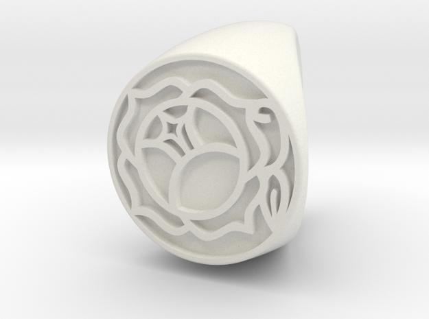 Utena Ring Size 3 in White Natural Versatile Plastic