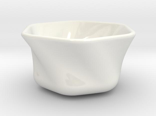 KOBACHI hexagon Medium in Gloss White Porcelain: Medium