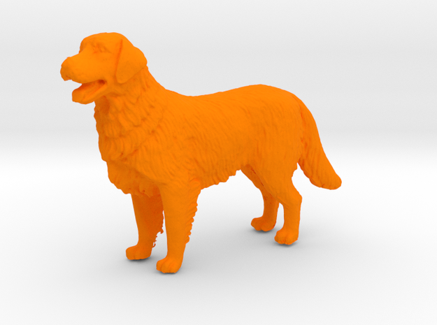 1/[24, 35] Golden Retriever Scale Model for Dioram in Orange Processed Versatile Plastic: 1:24