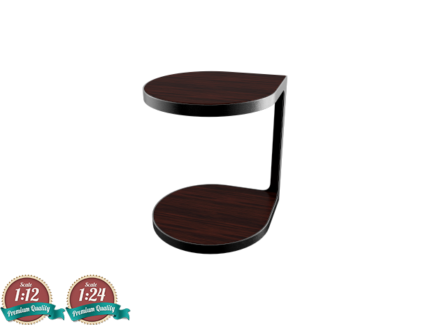 Miniature Coot Table - Gordon Guillaumier in Smooth Fine Detail Plastic: 1:24