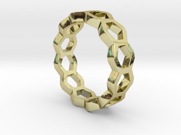 Nanotube Ring in 18k Gold Plated Brass