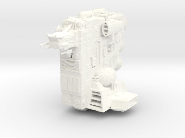 'The Flagstone' Ship Miniature (Landing Gear Up) in White Processed Versatile Plastic