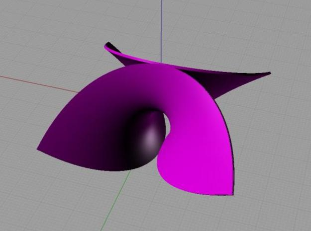 Enneper surface 3d printed Enneper surface in Rhino 3D