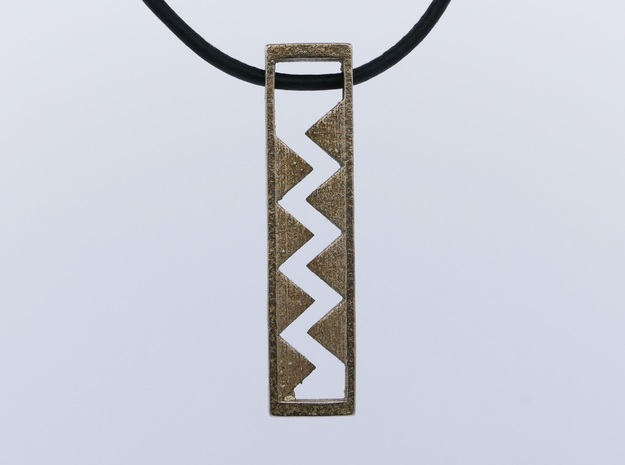 Spike pendant in Polished Bronzed Silver Steel