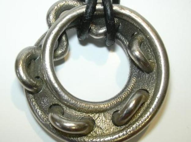 Stitched mobius in Polished Bronzed Silver Steel