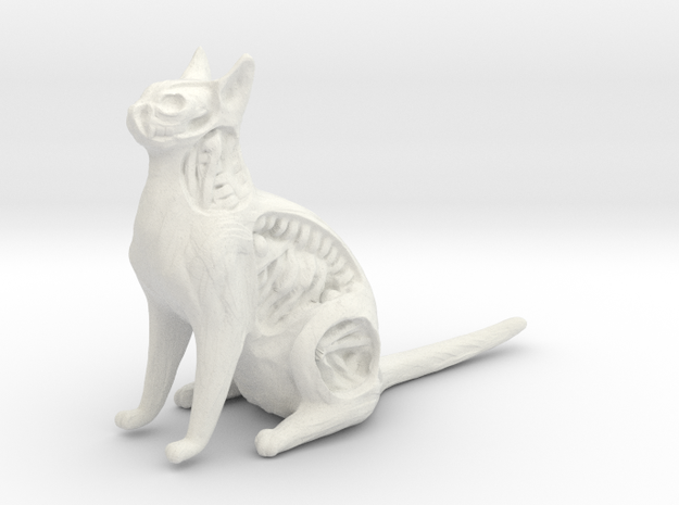White Walker Cat in White Natural Versatile Plastic