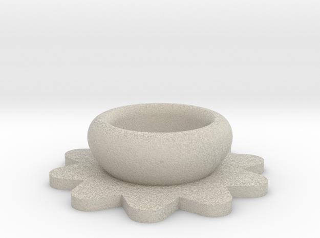Flower Tealight Holder in Sandstone