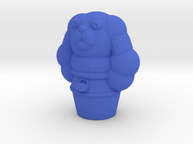 Pupper Stopper V in Blue Processed Versatile Plastic