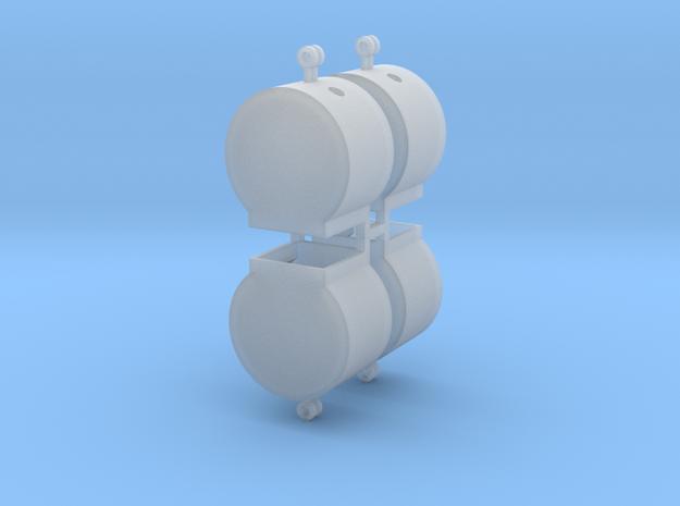 Altglascontainer Trommel 4erSet 1:120 TT in Smoothest Fine Detail Plastic