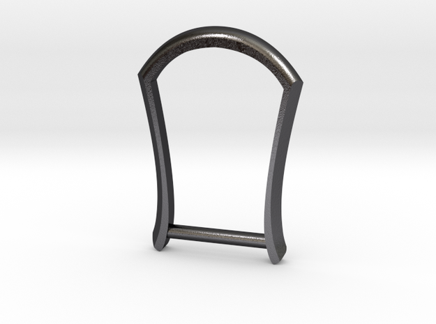 "1"" Long Buckle Frame, Plain - STEEL in Polished and Bronzed Black Steel"