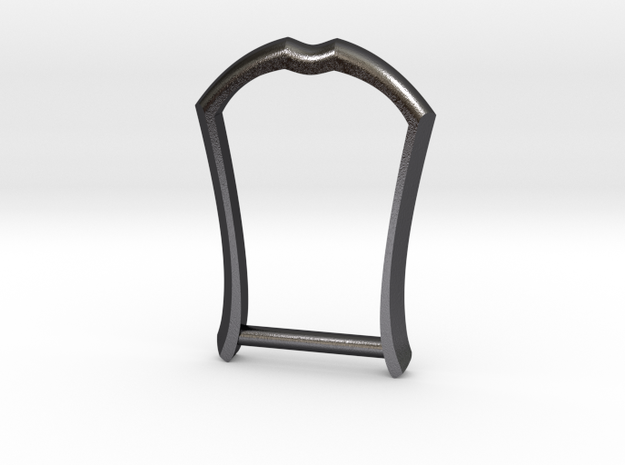 "1"" Long Buckle Frame, Accented - STEEL in Polished and Bronzed Black Steel"