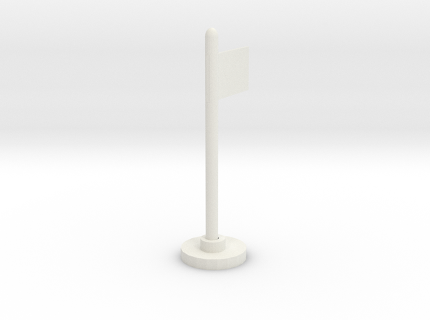 Flag Stand in White Strong & Flexible