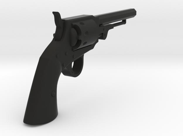 Ned Kelly Gang Colt 1851 Revolver 1:6 Scale in Black Natural Versatile Plastic