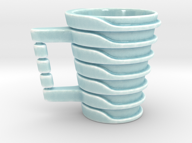 Cup17 in Gloss Celadon Green Porcelain