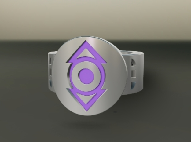 Indigo Tribe FF Ring Sz 11 3d printed Custom Enameled