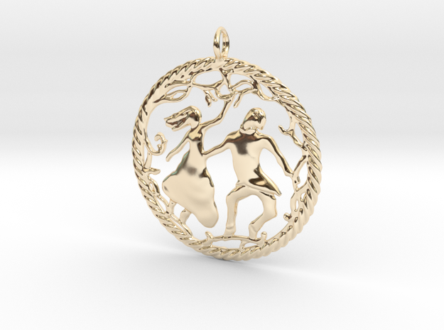 Beautiful vintage style pendant in 14k Gold Plated