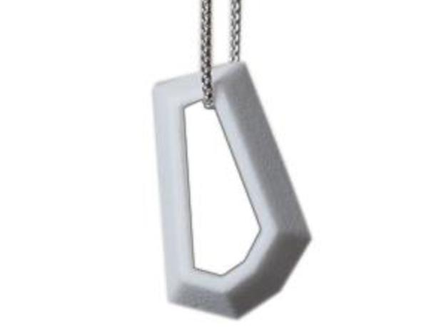 Knoebel pendant large in White Strong & Flexible Polished