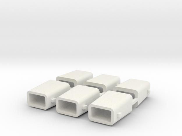 set4795 Stahlkokille 2 Zapfen Längs ohne Boden 6er in White Natural Versatile Plastic