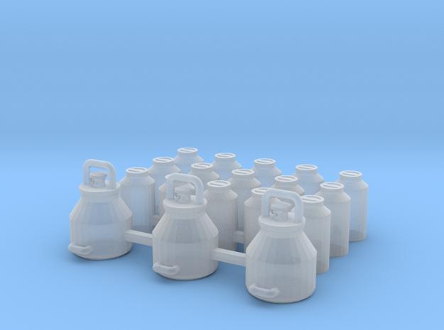 1/87 H0 Melkeimer und Milchkannen