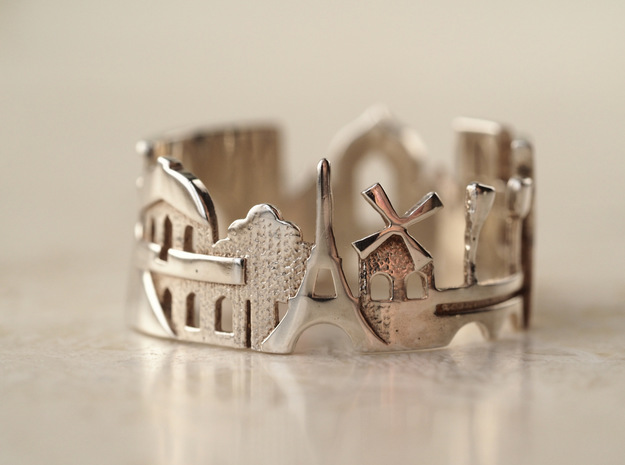 Paris Ring - Gift for Women in Polished Silver: 5 / 49