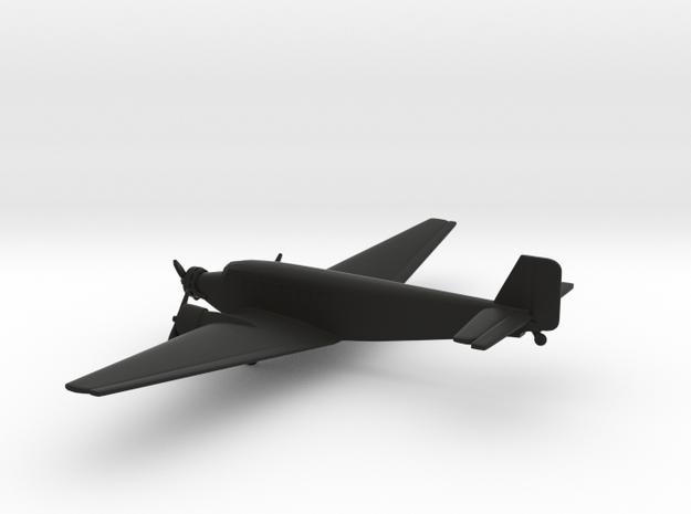 Junkers Ju 52 Iron Annie in Black Natural Versatile Plastic: 6mm