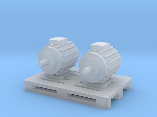 Elektromotoren auf Europalette - 1:120 TT in Smooth Fine Detail Plastic