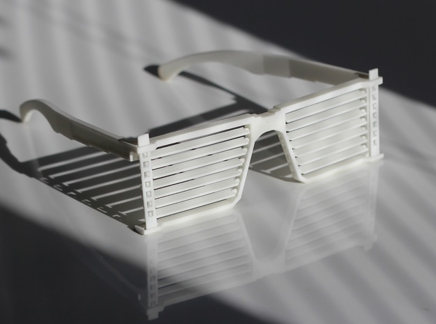 Sunglass Luxa in White Strong & Flexible