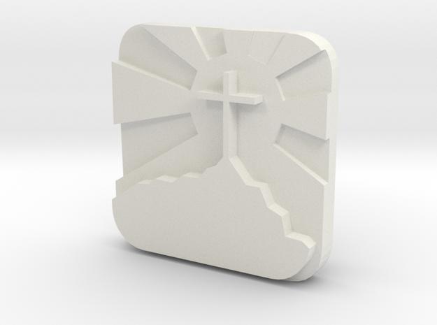 Cross mount  in White Natural Versatile Plastic