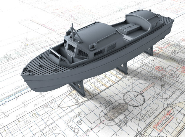 1/96 Royal Navy 35ft Fast Motor Boat in Smooth Fine Detail Plastic