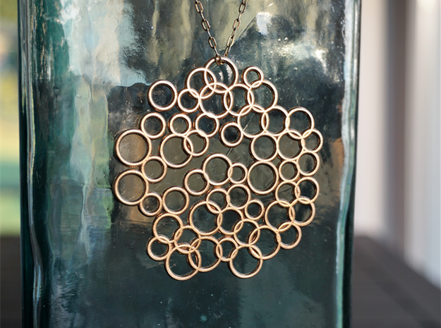 Bubble Pendant in Natural Bronze