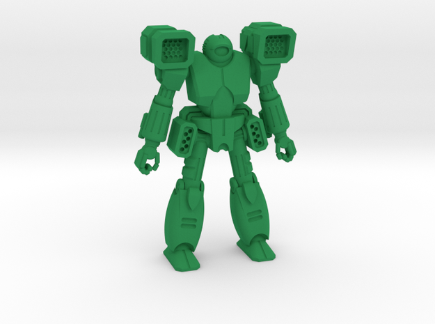 Agni Type Combat Walker - 6mm in Green Strong & Flexible Polished