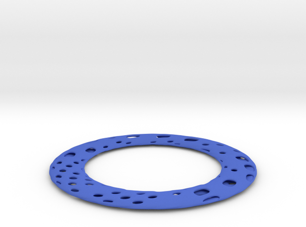 HOLES_twisted_05a in Blue Strong & Flexible Polished
