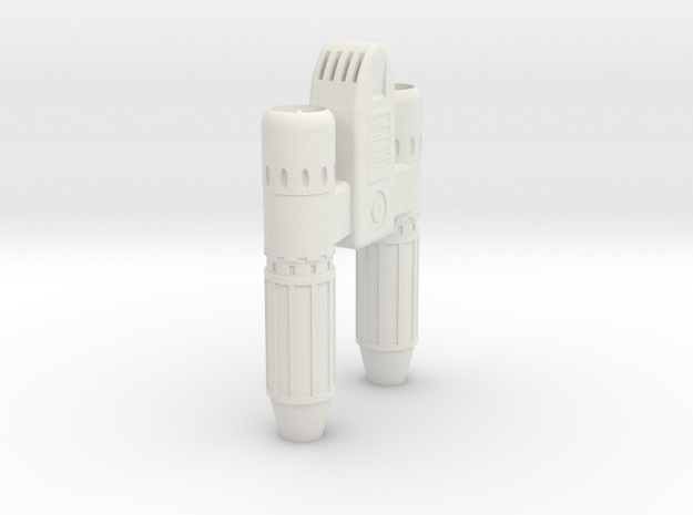 Star Lord leg jet in White Natural Versatile Plastic