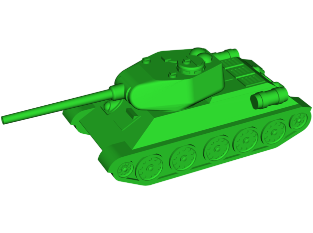 T-34-85 Medium Tank in White Strong & Flexible: Small